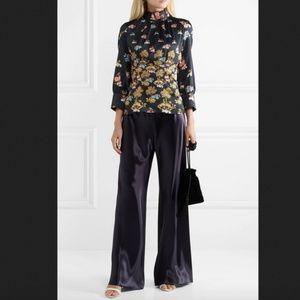 Peter Pilotto High Neck Silk Floral Blouse